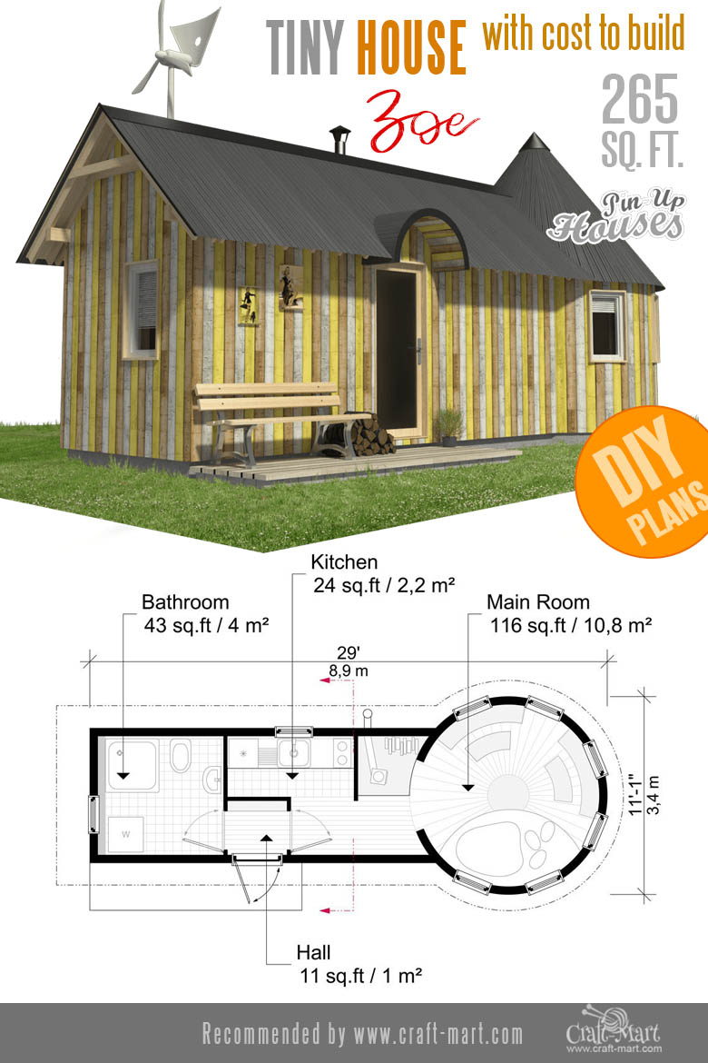 Awesome Small Home Plans for Low DIY Budget - Craft-Mart on castle earthship plans, earthship construction plans, building your own earthship,