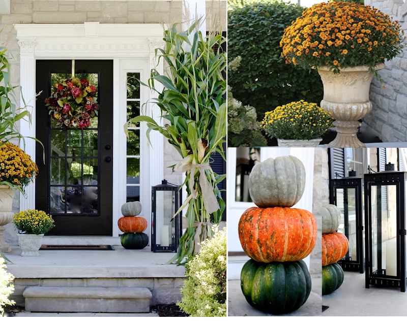 Look at this collection of small front porch decorating ideas on a budget! Super fun and easy to do! Fall porch decor ideas don't have to be complicated and expensive. Give these ones a try! #falldecor #pumpkin