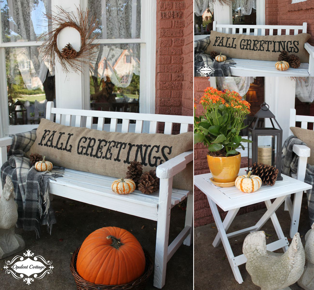 Small front porch decorating ideas craft mart - Fall decorating ideas for front porch ...