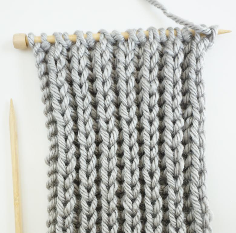 How To Knit An Infinity Scarf Using Fisherman Rib Stitch