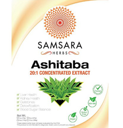 Extract from Ashitaba plant in a powder form