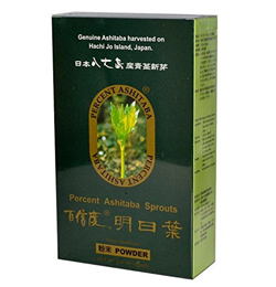 Ashitaba tea from Japan that you can get from Asian food markets or Amazon