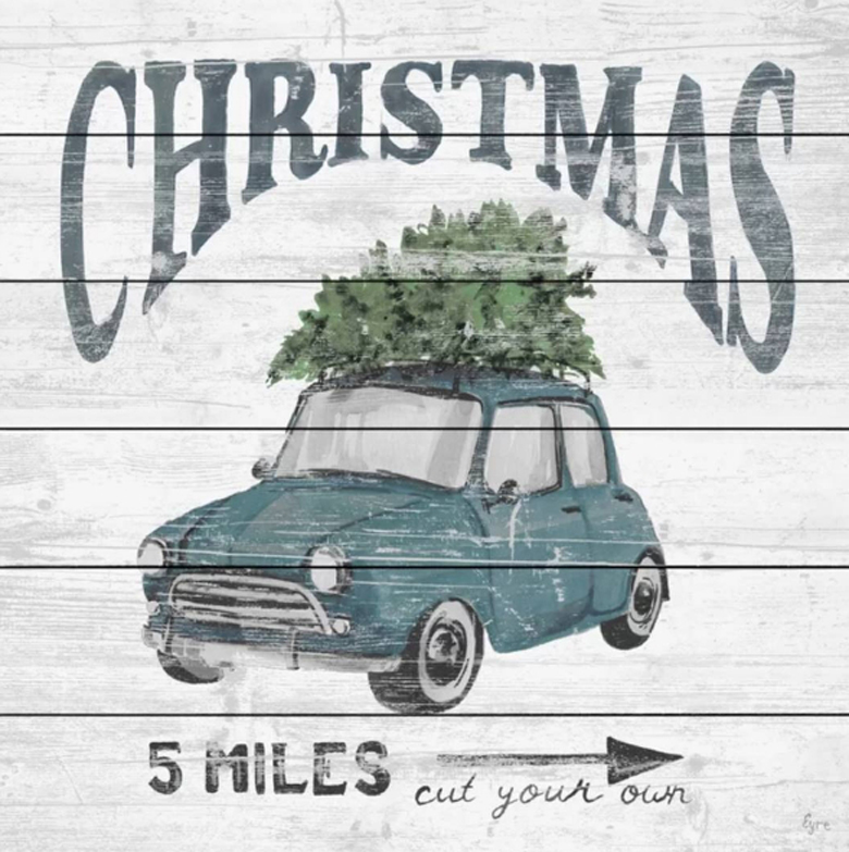 Rustic Christmas Tree Farm Sign - can be a fun diy christmas decor idea for you this season