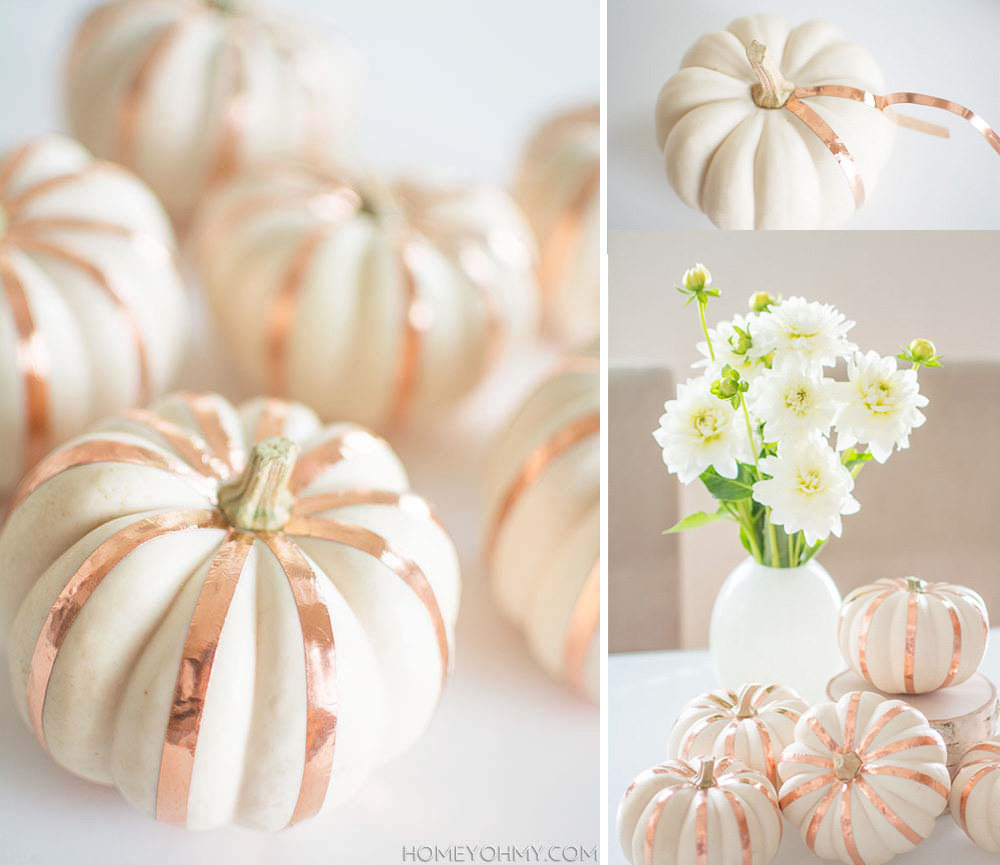 Neutral Thanksgiving Tablescape With Small White Pumpkin Decor