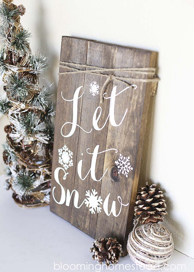 Large Wooden Let It Snow Sign can be a terrific addition to your other traditional rustic christmas ornaments