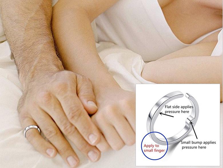 anti-snoring ring device