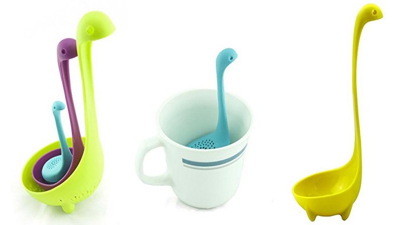 Nessie Family Collander Strainer Spoon, Ladle Spoon, and Tea Infuser