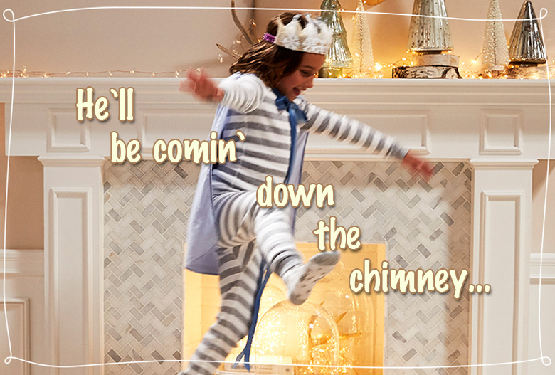 He'll be comin' down the chimney most creative and funny Christmas photos craft-mart
