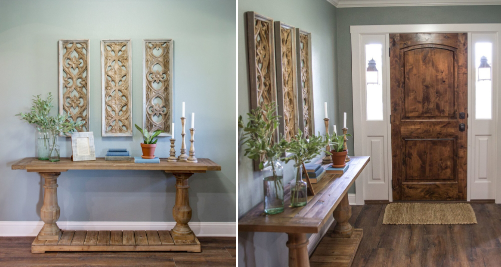 multi-panel rustic antique wall art for an entry way