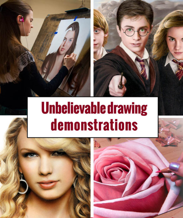 drawing demonstrations by amazing artists