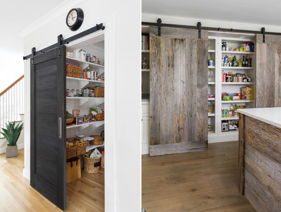 modern and rustic pantry barn doors add decor and functionality by craft-mart