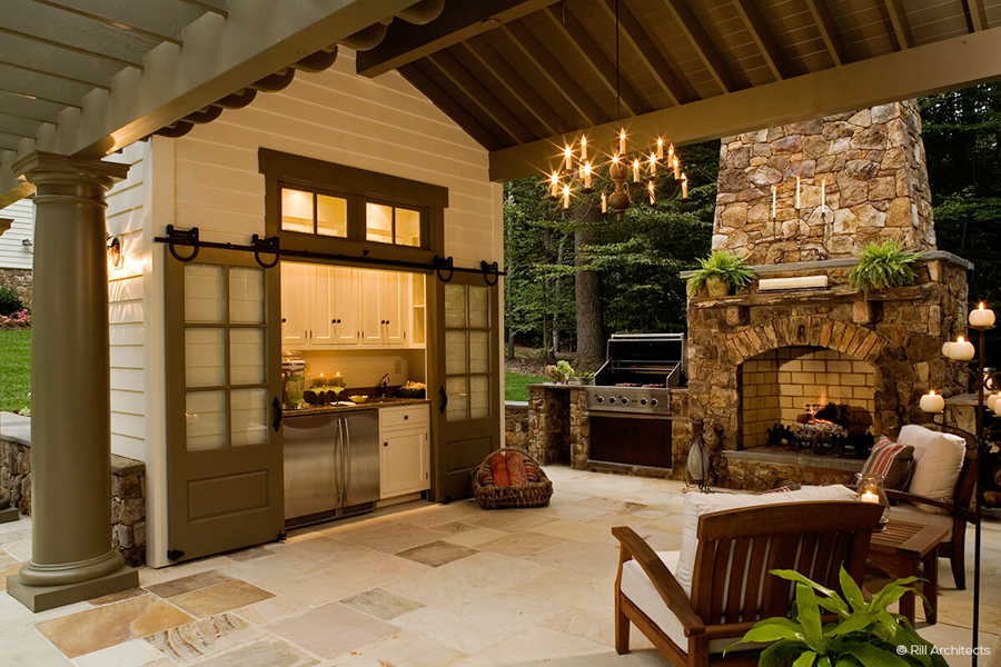 exterior barn doors for outdoor kitchen found by craft-mart