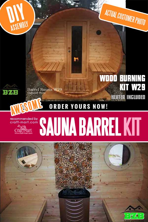 Wood Burning Sauna Kit W29 with Heater Included