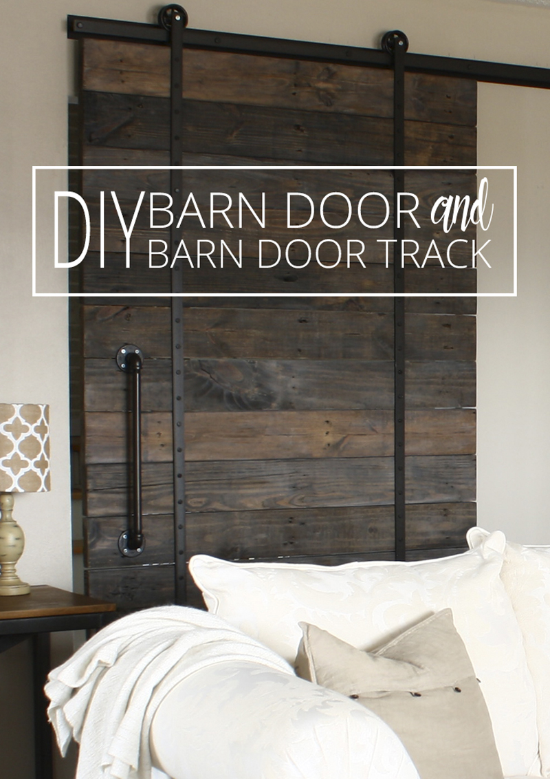 DIY barn door and DIY barn door track