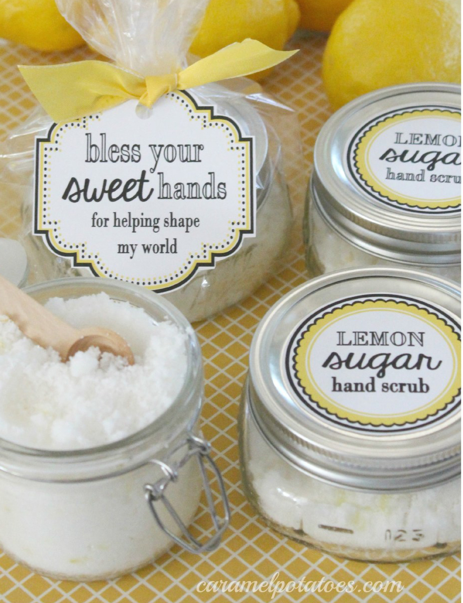 Lemon Sugar Scrub and free printables curated by craft-mart