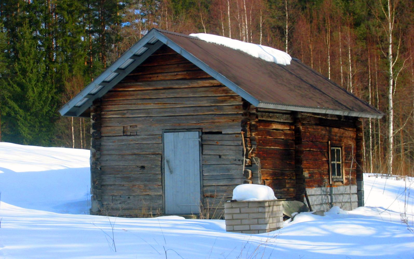 A smoke sauna (savusauna) in Enonkoski.