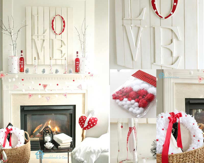 Easy Valentine Day Home Décor by craft-mart.com