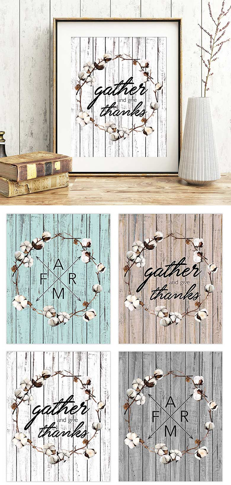 Free Farmhouse Printables collection for home decoration