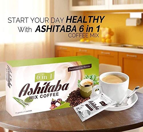 Replace Ashitaba tea with this Ashitaba Mix Coffee - an organic coffee with a great number of health benefits which helps you to boost your immune system and serves as an anti-oxidant to our body.