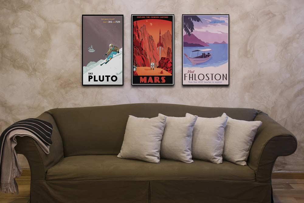 Fantasy and Vintage Travel Posters by Steve Thomas