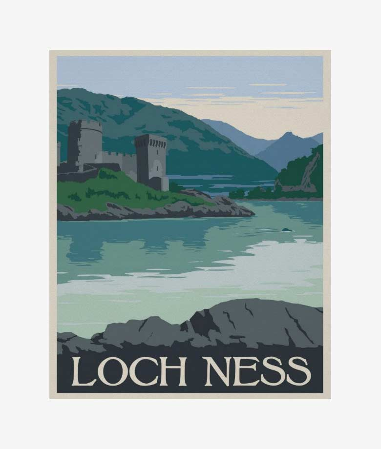loch ness scotland poster