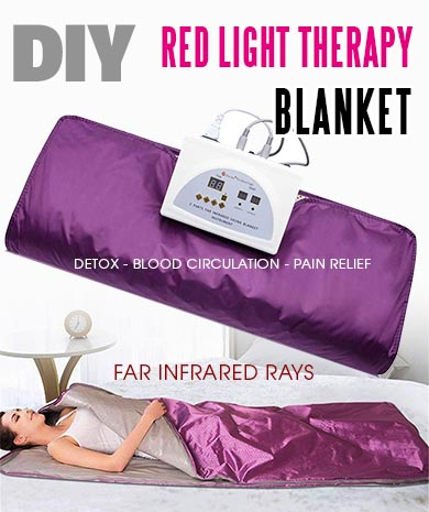 DIY red light therapy blanket for pain relief