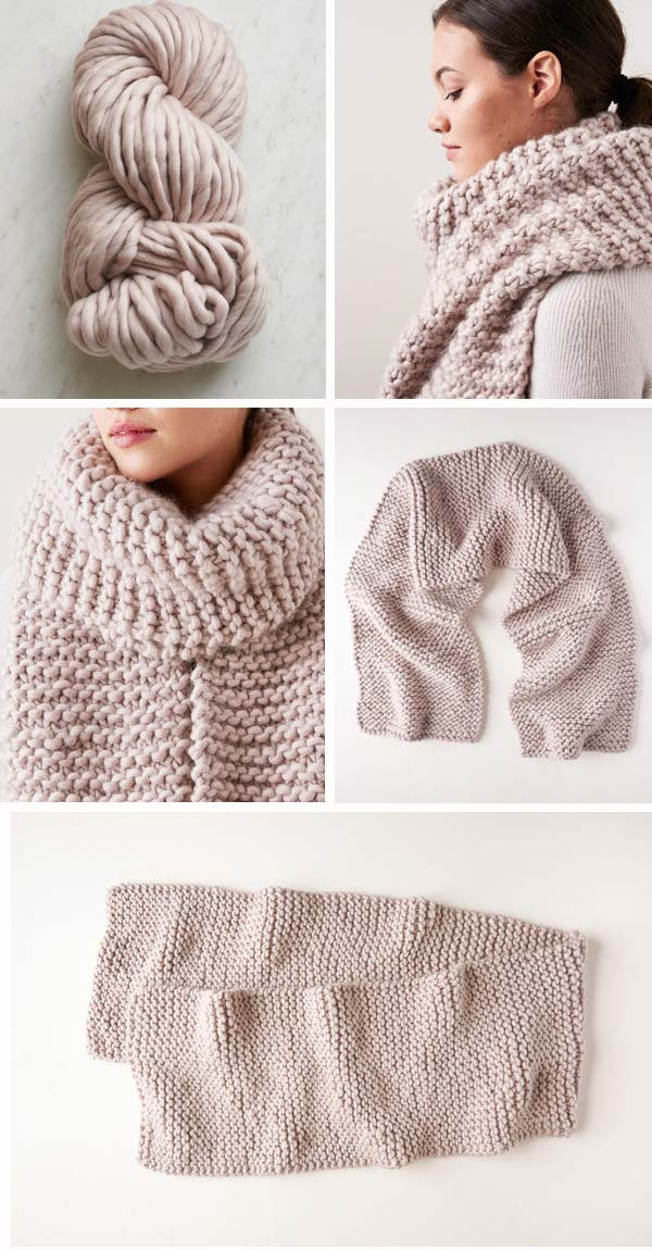 knitted scarf pattern using bulky yarn, free knitting pattern using bulk merino wool