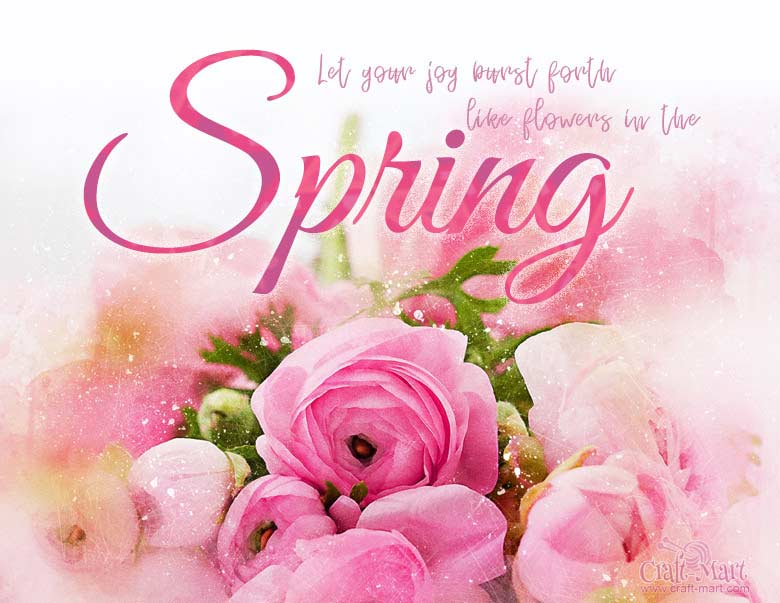 spring printable PDF files with sayings and quotes