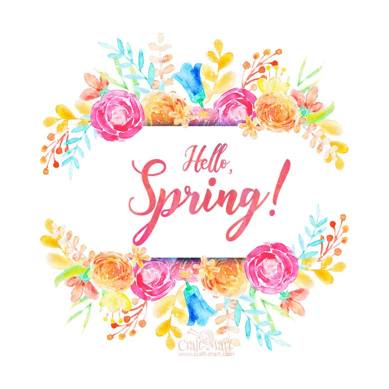 Hello, spring printable
