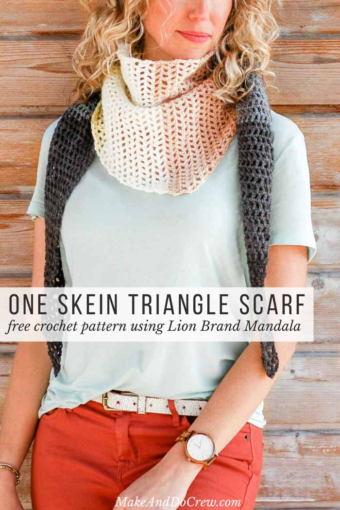 """Easy Crochet Projects - DAWN TO DUSK"""" FREE LION BRAND MANDALA CROCHET SCARF PATTERN"""