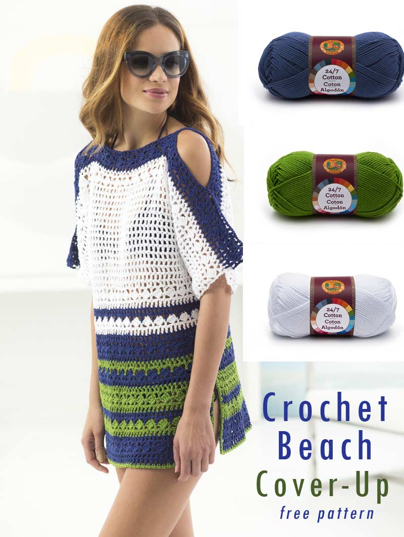 Easy Crochet Projects - beach cover-up free pattern