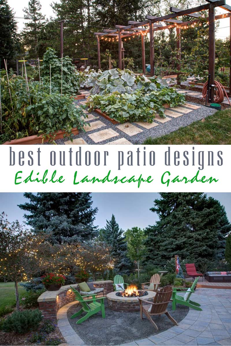 edible landscape garden - best outdoor patio designs collection by craft-mart