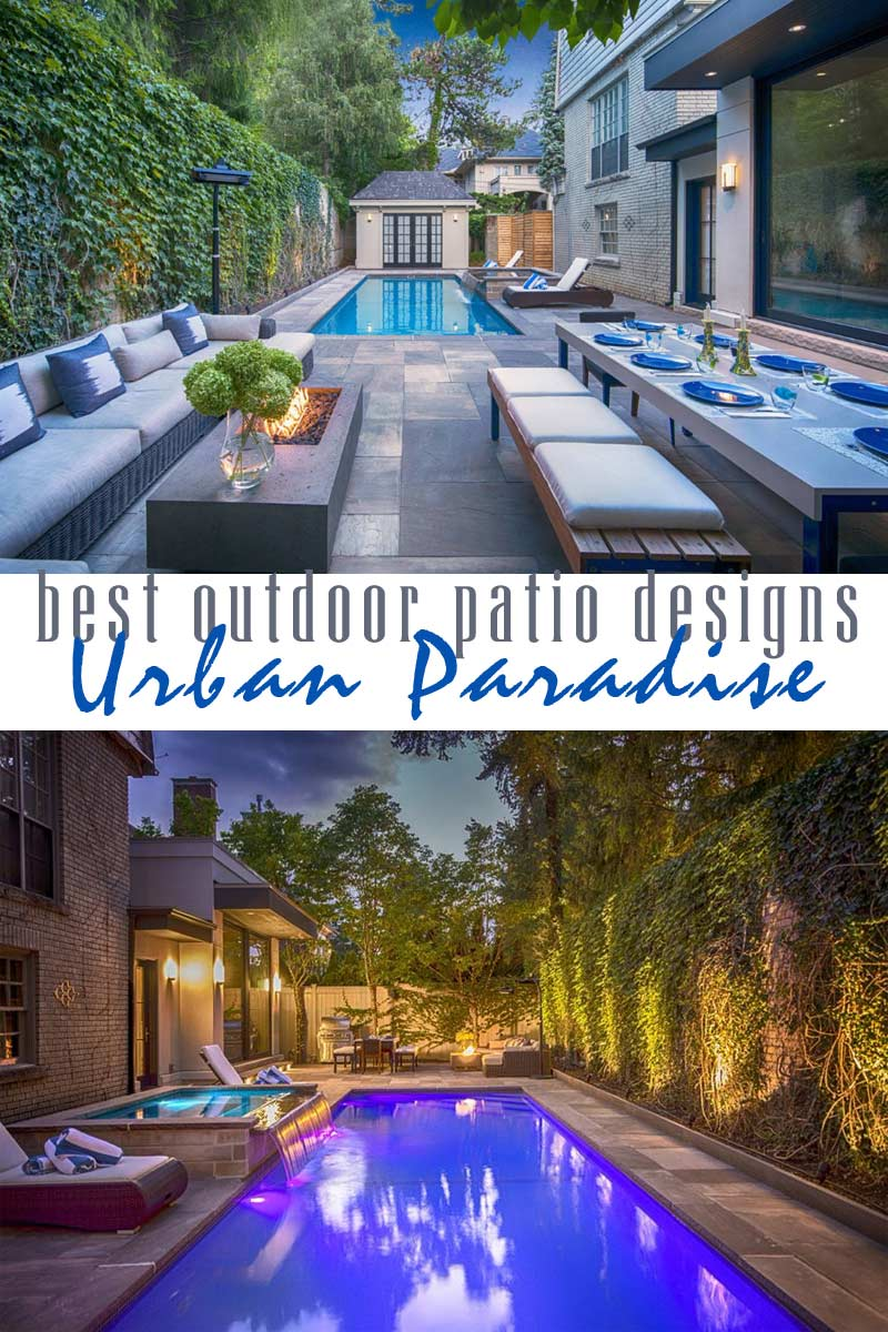 Urban Paradise to Enjoy Day & Night - best outdoor patio designs collection by craft-mart
