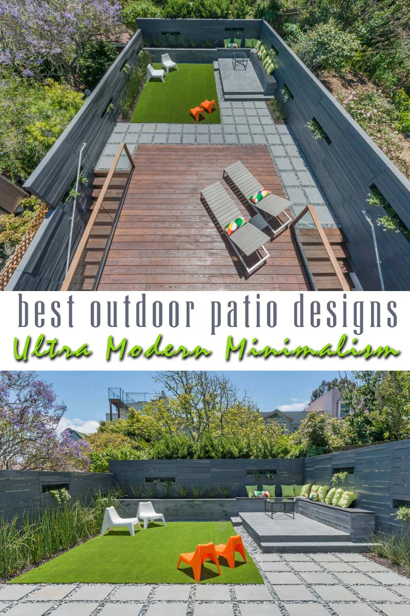 Ultra Modern Minimalism - best outdoor patio designs collection by craft-mart