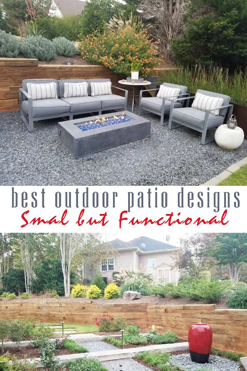 small and functional low-maintenance backyard - best outdoor patio designs collection by craft-mart