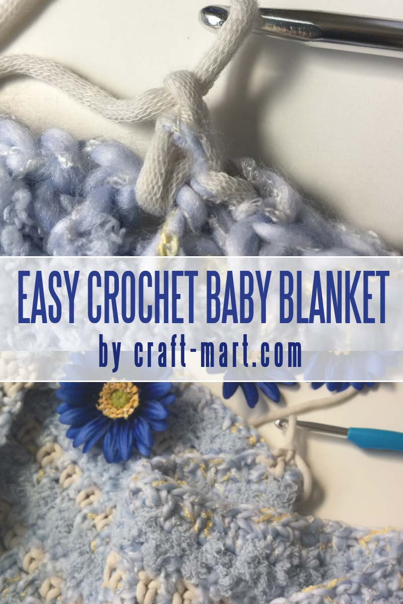 Learn how to crochet a baby blanket in 3 hours - easy crochet baby blanket FREE PATTERN for beginners #easycrochetbabyblanket #crochetbabyblanket #crochettutorial