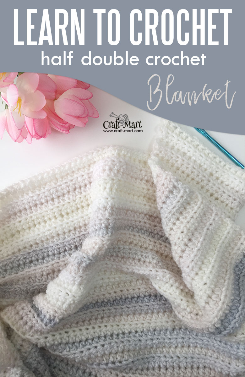 half double crochet baby blanket