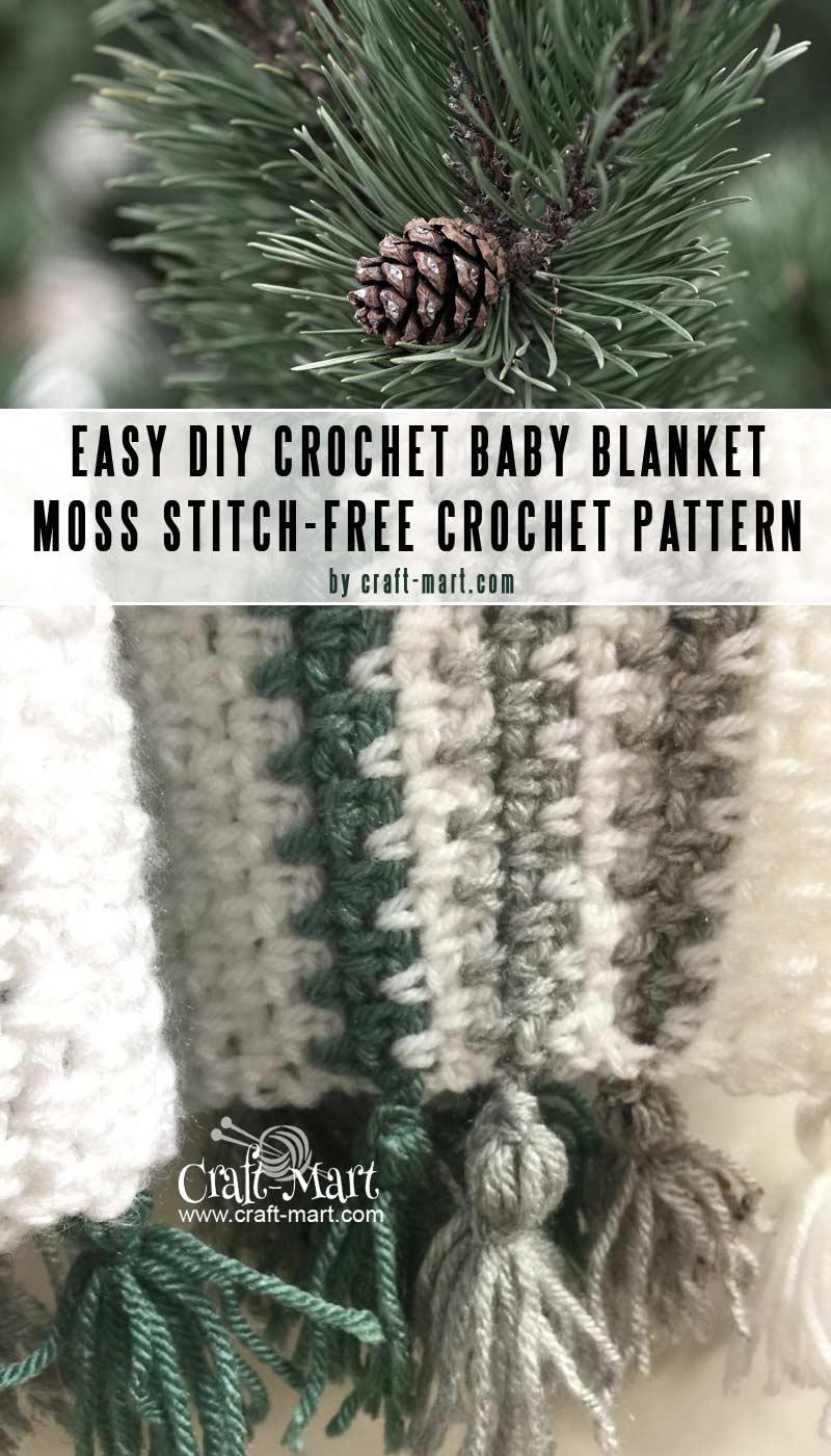 Moss Stitch free heirloom crochet baby blanket patterns