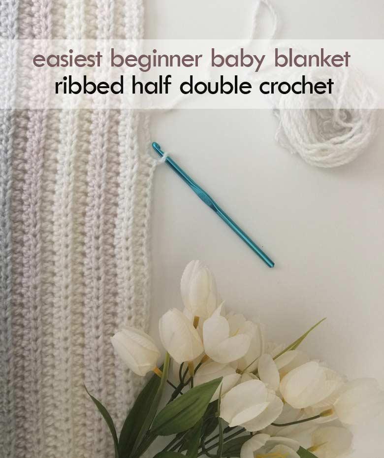 half double crochet beginner baby blanket