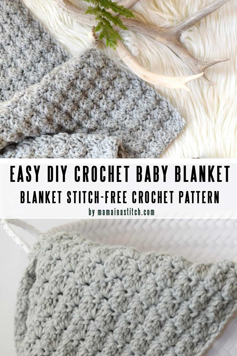 Blanket Stitch - Easy baby blanket patterns you can crochet in a weekend
