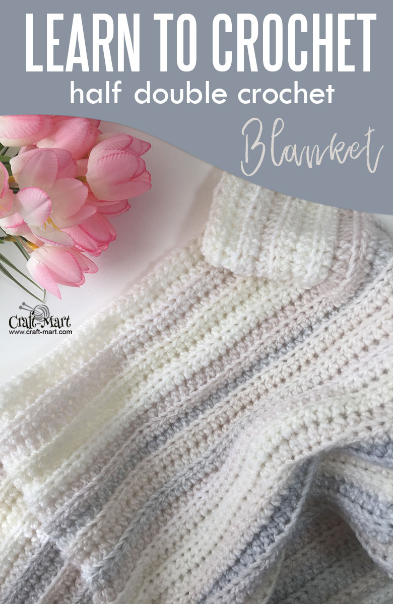 how to crochet half double crochet blanket