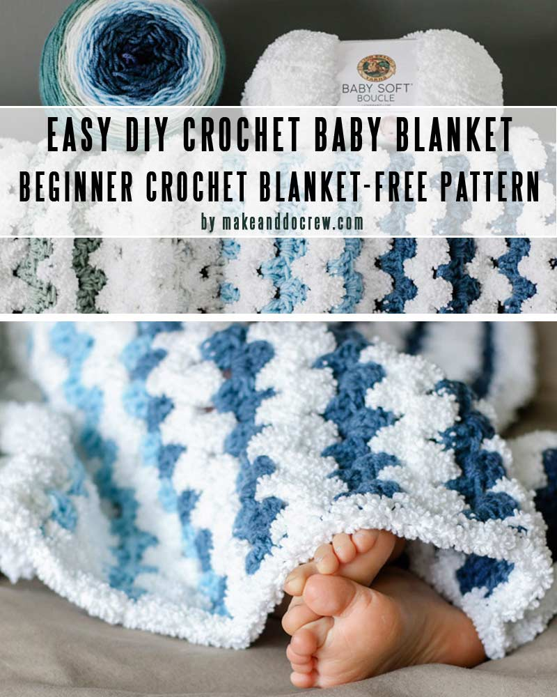 Fast and Easy Crochet Blanket-Easy DIY baby blankets you can crochet in a weekend-collection by craft-mart