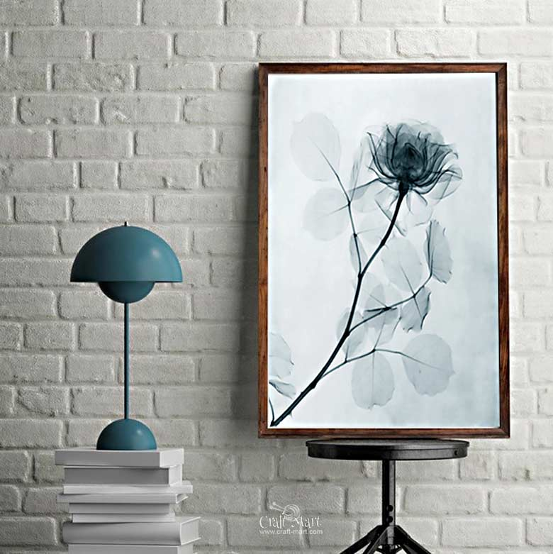 X-ray flowers - free printable wall art
