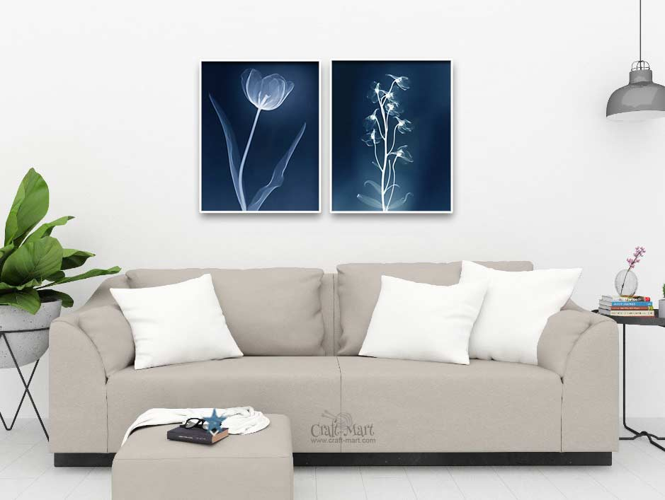 floral wall art - x-ray flowers - free printable flower pictures for modern interiors