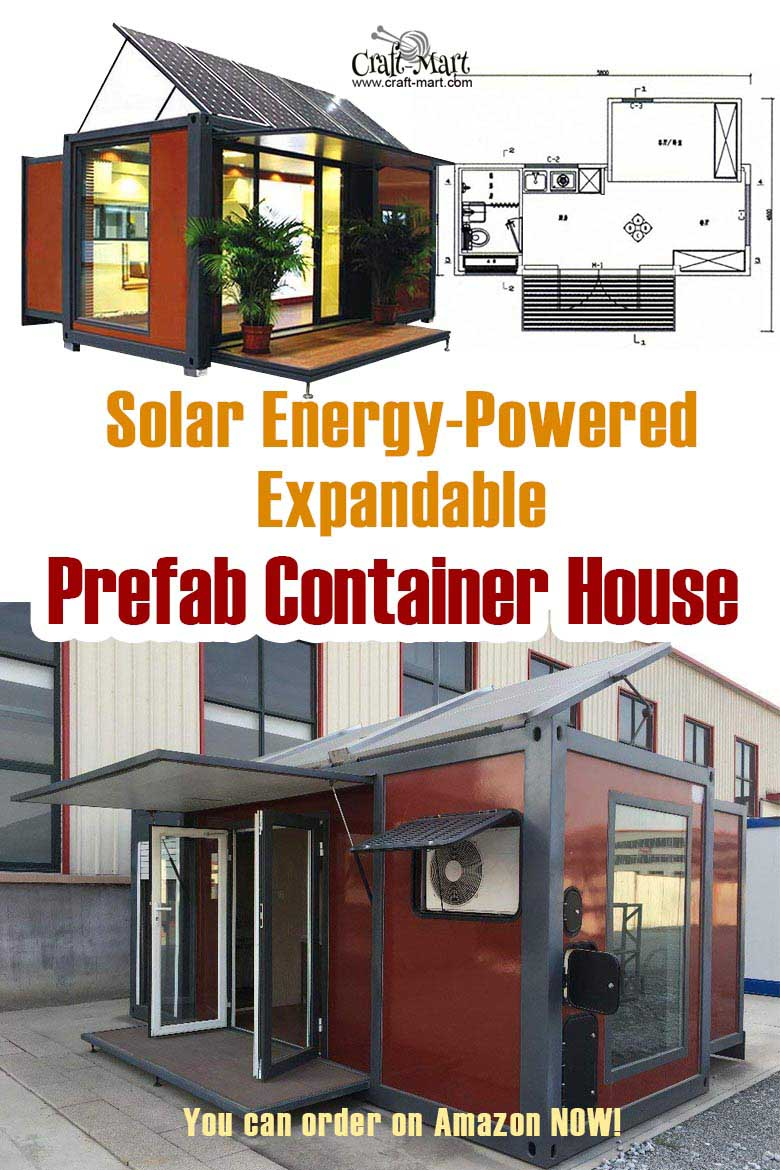 Solar Energy-Powered Expandable Prefab Tiny Container House #tinyhouse