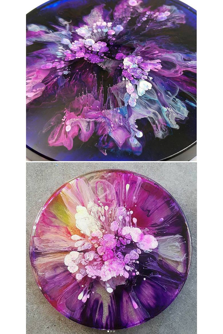 alcohol ink pouring by fluidart