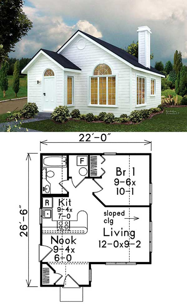 Little cottage aspen aspen tiny house floor plan