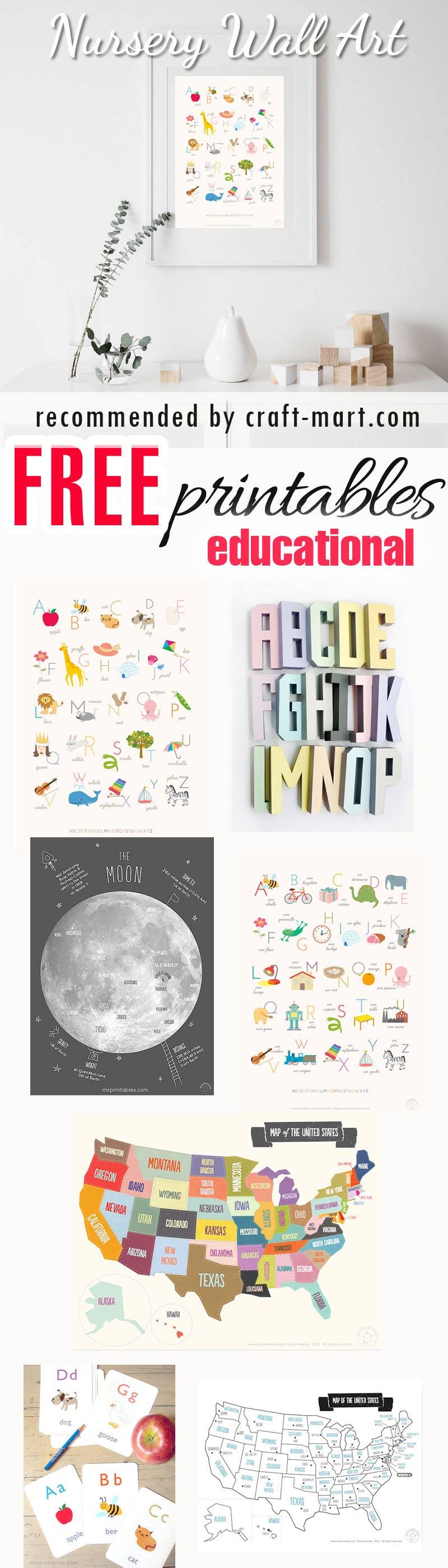 100 best free nursery printables and wall art craft mart