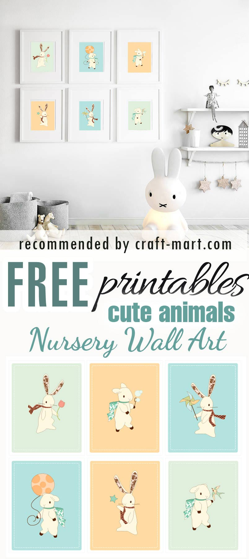 Cute Fairy Tale Animals Free Nursery Printables #freeprintables #freenurseryprints #freenurserywallart #cutenurseryprints #cuteanimalsfreeprintables #animalsfreenurseryprintables