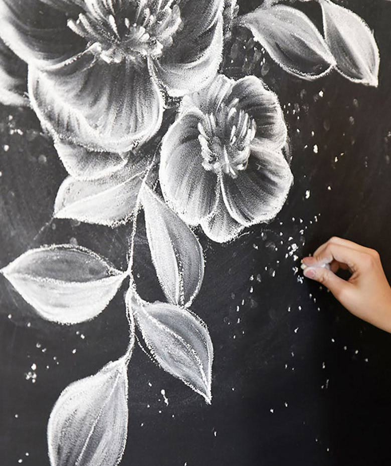 how to draw flowers wall art murals